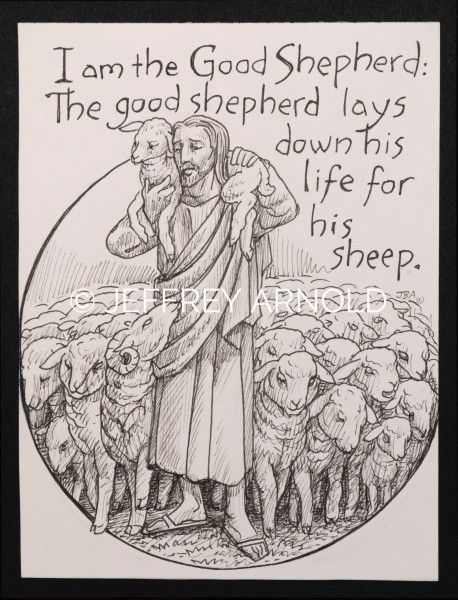 The Good Shepherd | Pen and Ink Illustrations